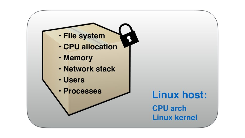 • File system • CPU allocation • Memory • Netwo...