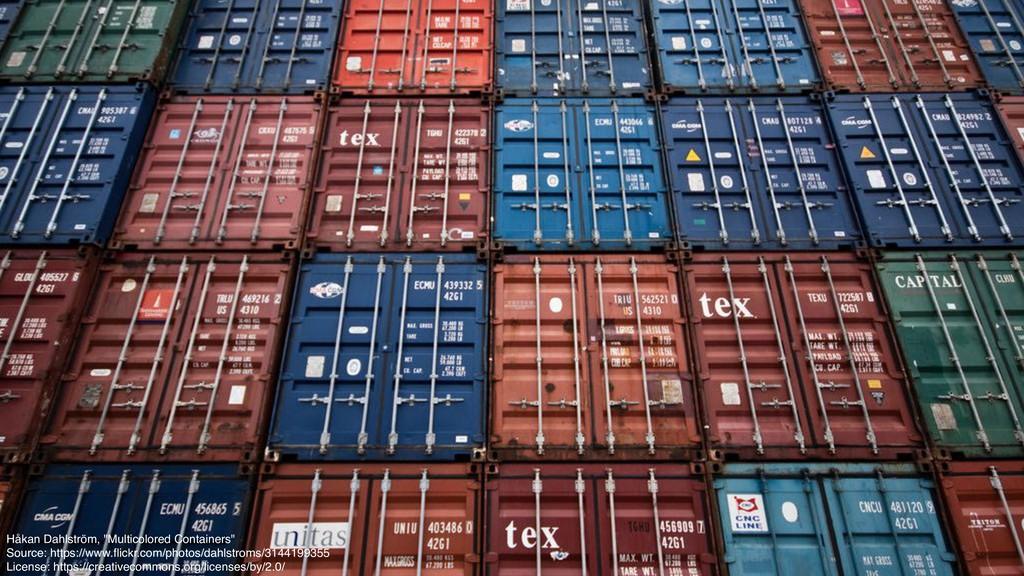 """Håkan Dahlström, """"Multicolored Containers"""" Sour..."""