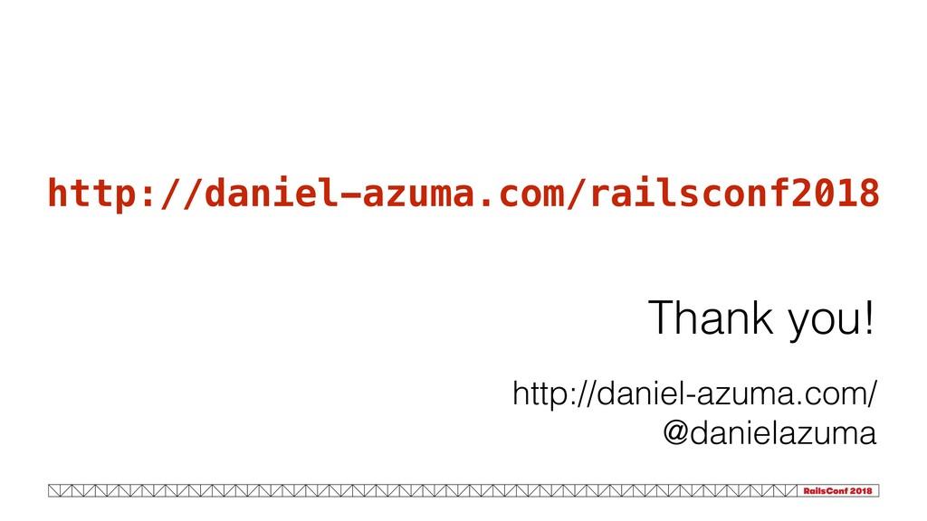 Thank you! http://daniel-azuma.com/ @danielazum...