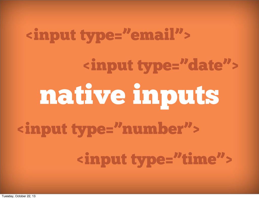 "native inputs <input type=""email""> <input type=..."