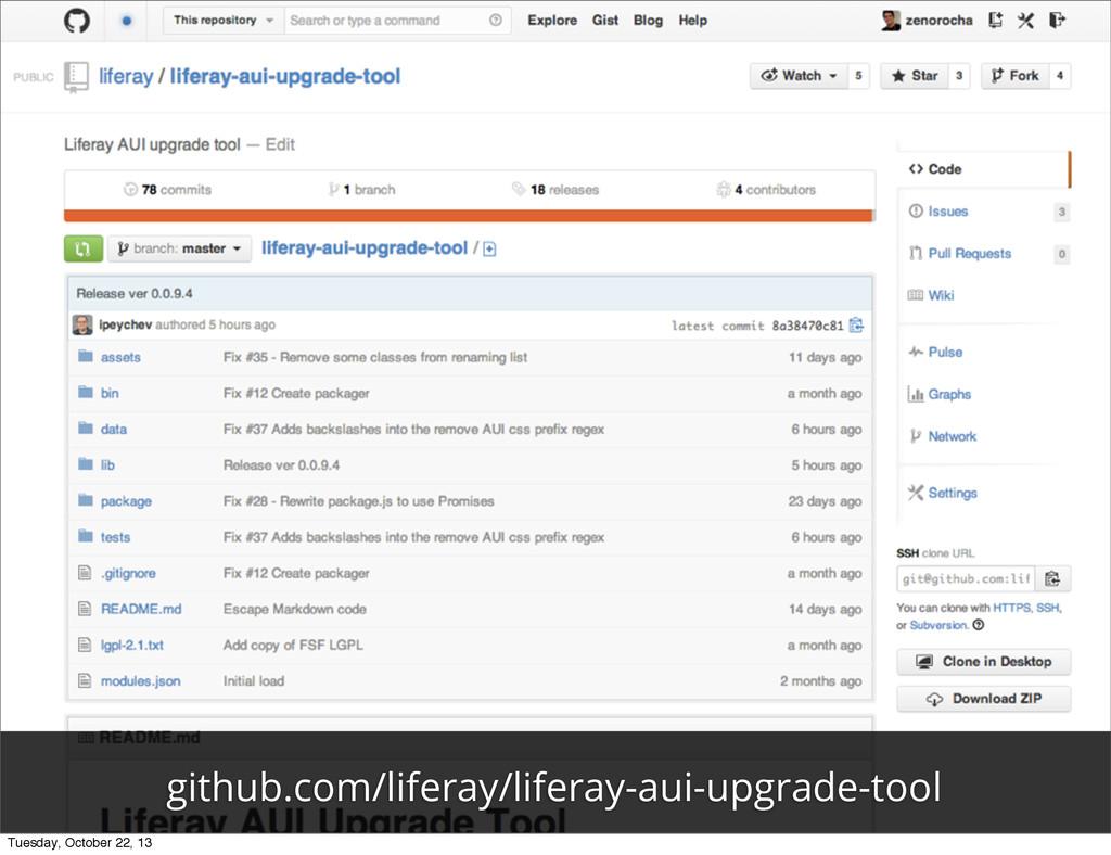 github.com/liferay/liferay-aui-upgrade-tool Tue...