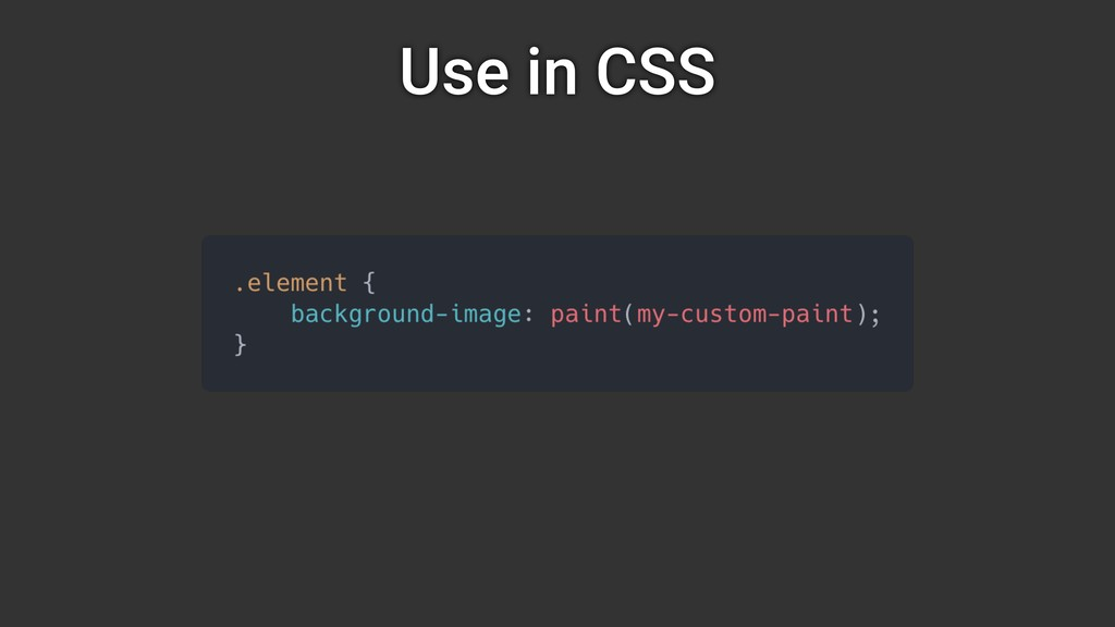 Use in CSS