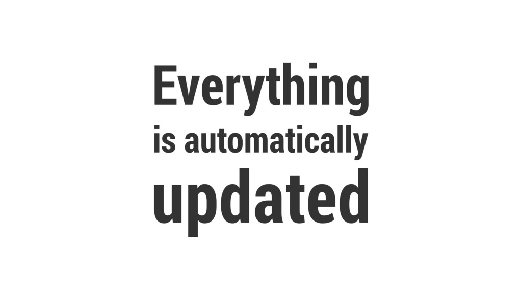 Everything is automatically updated