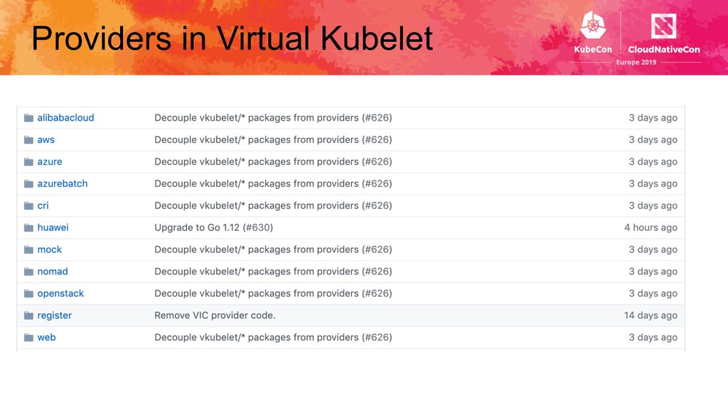 Providers in Virtual Kubelet