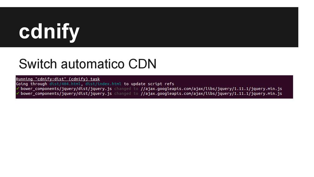 cdnify Switch automatico CDN