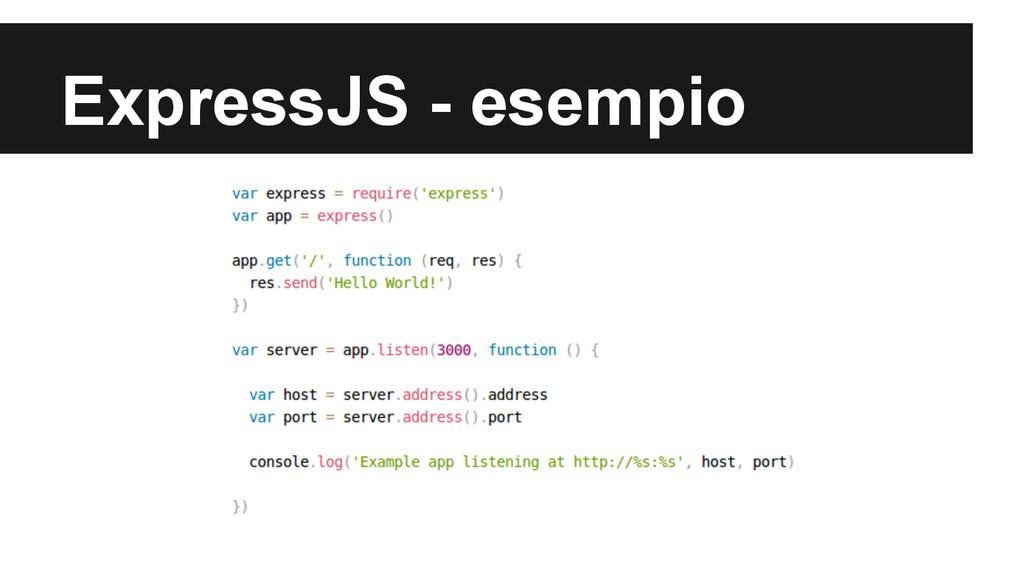 ExpressJS - esempio