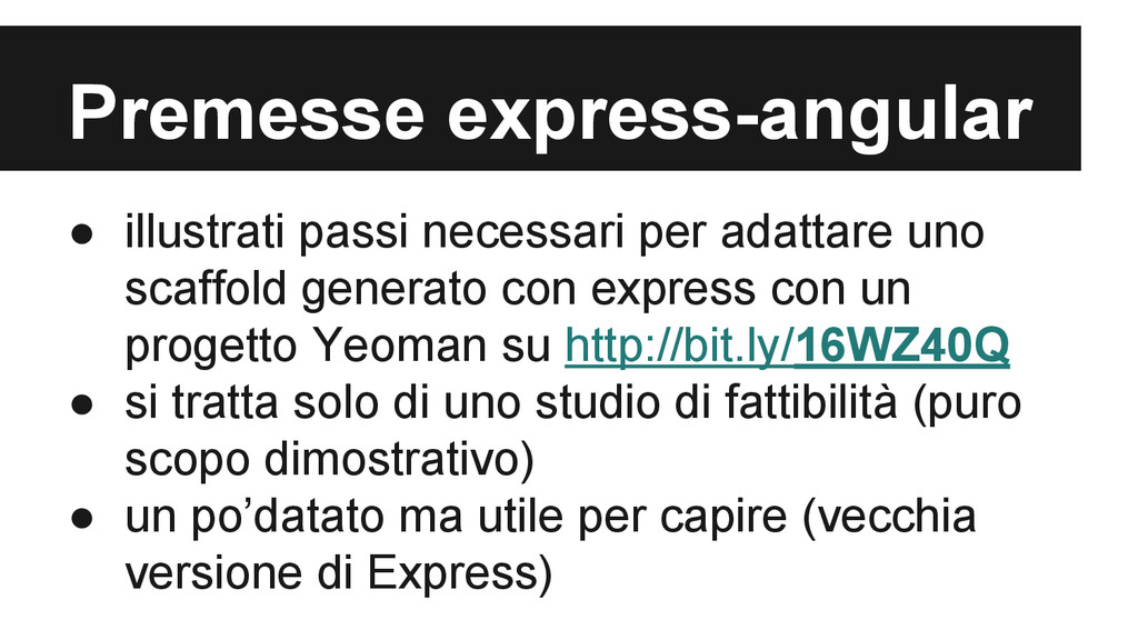 Premesse express-angular ● illustrati passi nec...