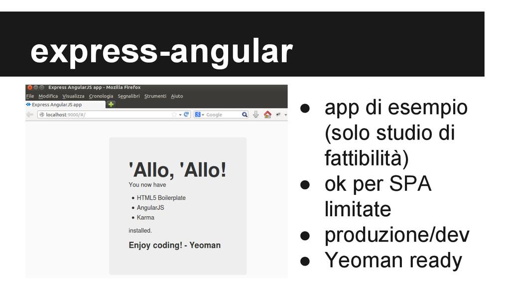 express-angular ● app di esempio (solo studio d...