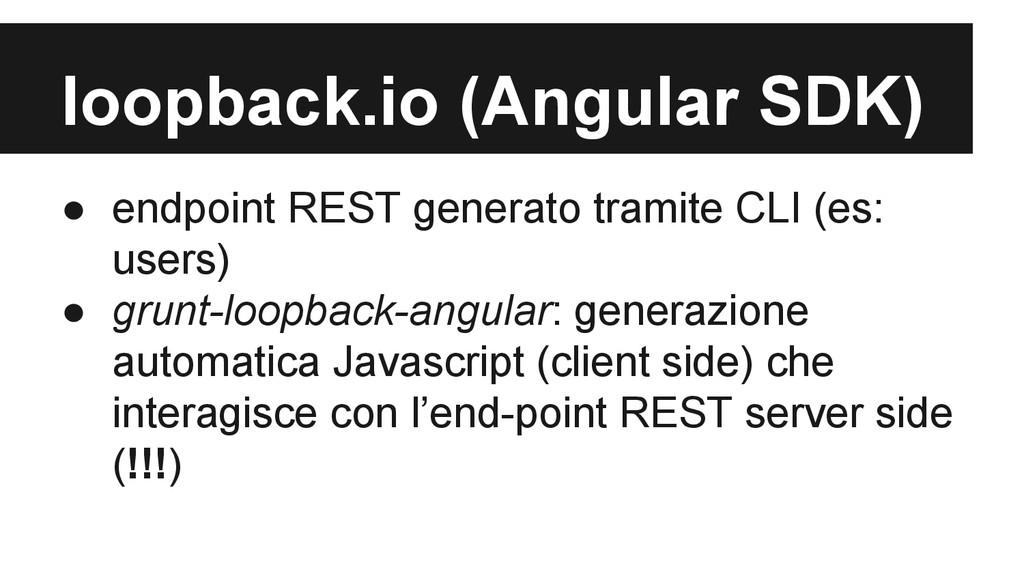 loopback.io (Angular SDK) ● endpoint REST gener...