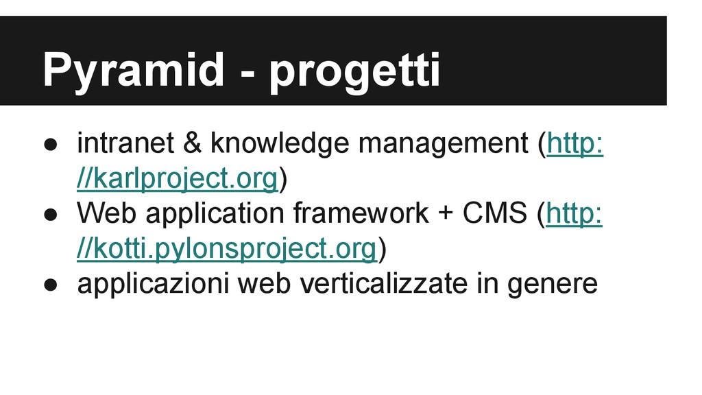 Pyramid - progetti ● intranet & knowledge manag...