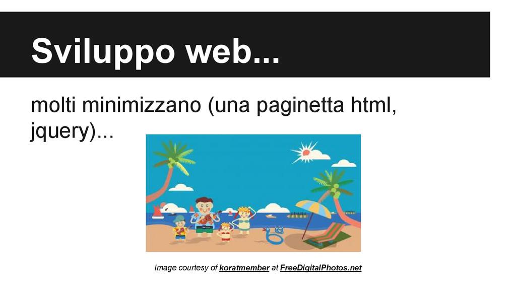 Sviluppo web... molti minimizzano (una paginett...