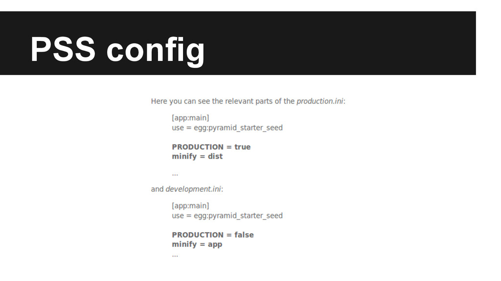 PSS config