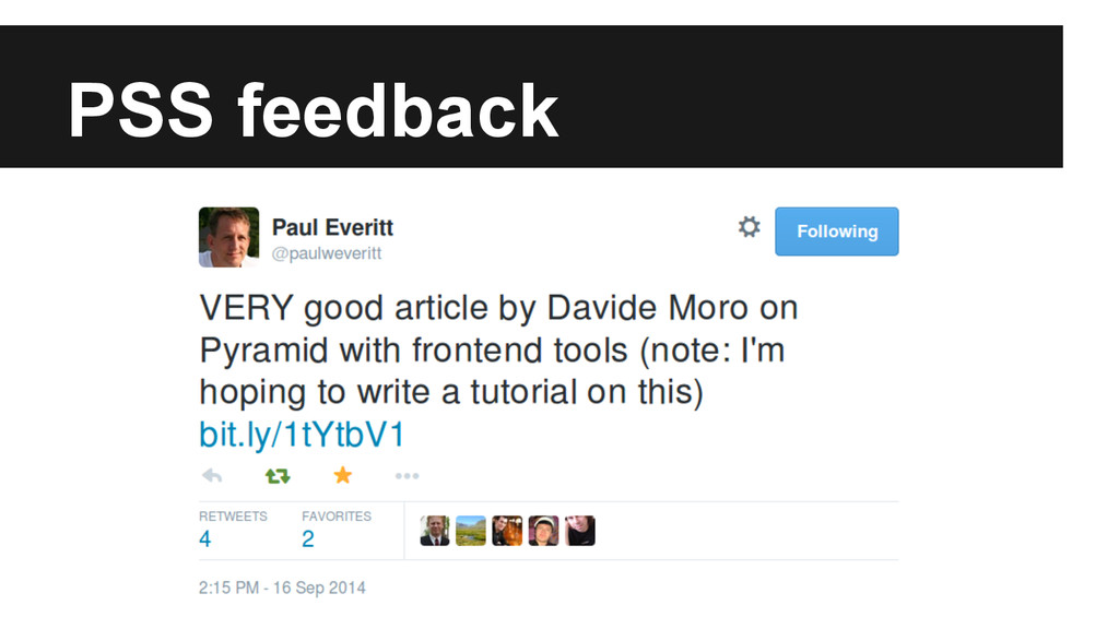 PSS feedback