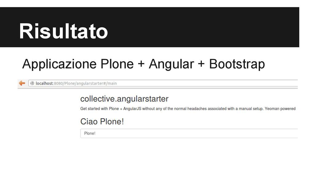 Risultato Applicazione Plone + Angular + Bootst...