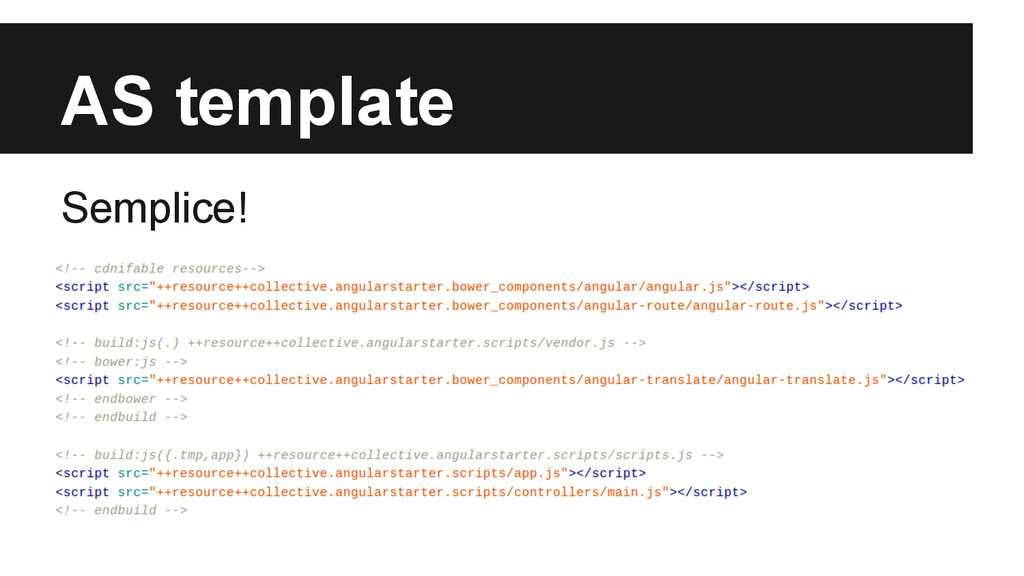 AS template Semplice!