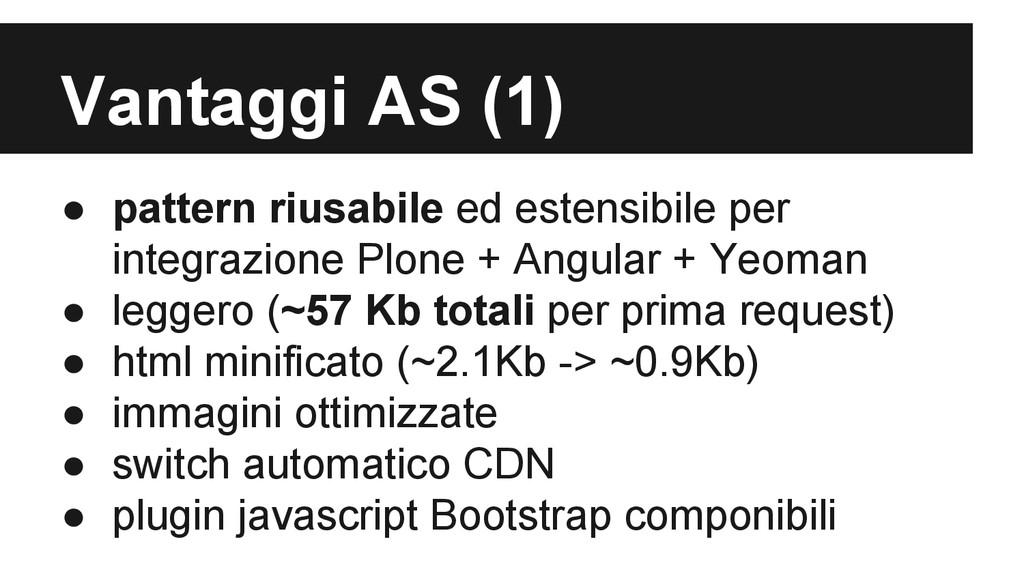 Vantaggi AS (1) ● pattern riusabile ed estensib...