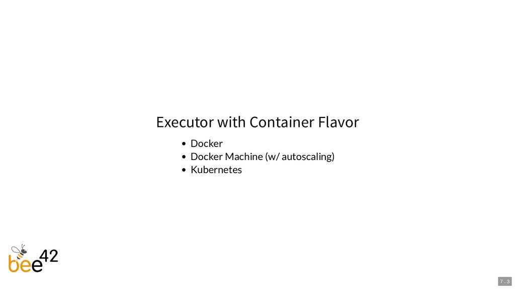 Executor with Container Flavor Docker Docker Ma...