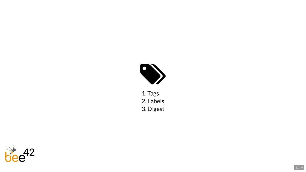  1. Tags 2. Labels 3. Digest 11 . 4
