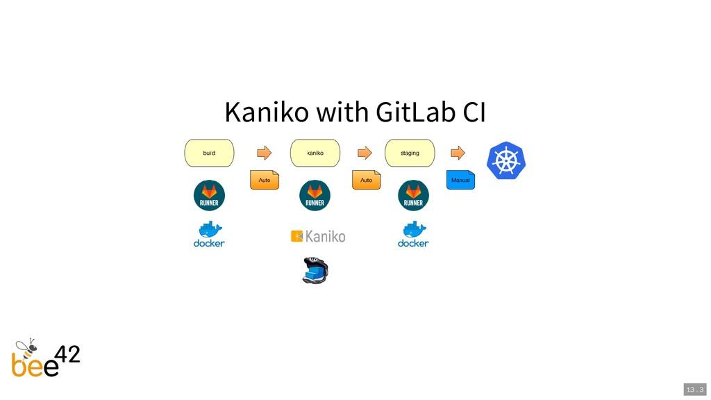 Kaniko with GitLab CI 13 . 3