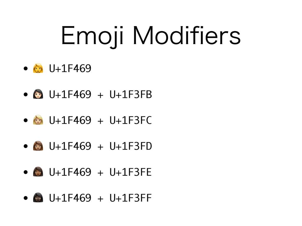 """&NPKJ.PEJpFST •  U+1F469 • """" U+1F469 + U+1F3FB..."""