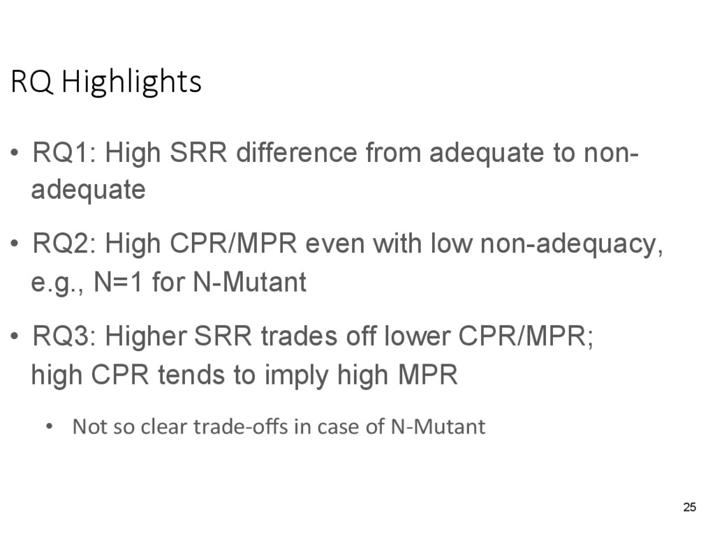 RQ Highlights