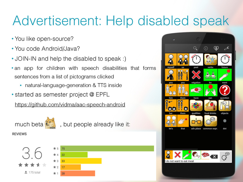 Advertisement: Help disabled speak • You like o...