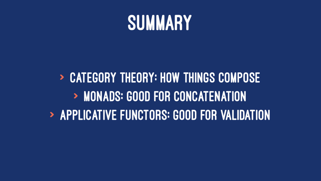 SUMMARY > Category Theory: how things compose >...