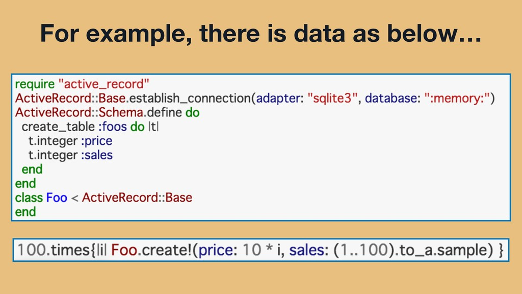 For example, there is data as below…