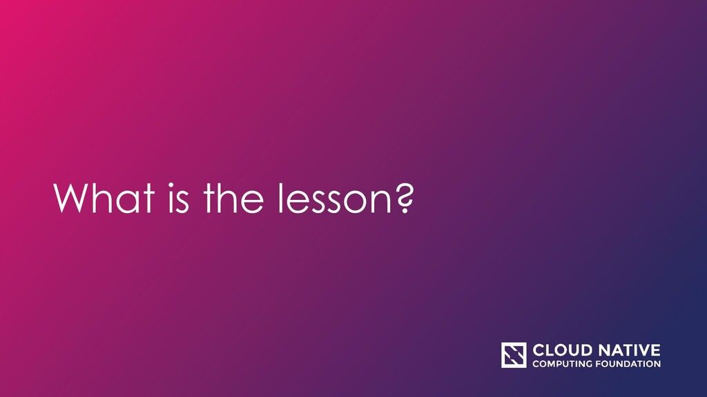 What is the lesson?