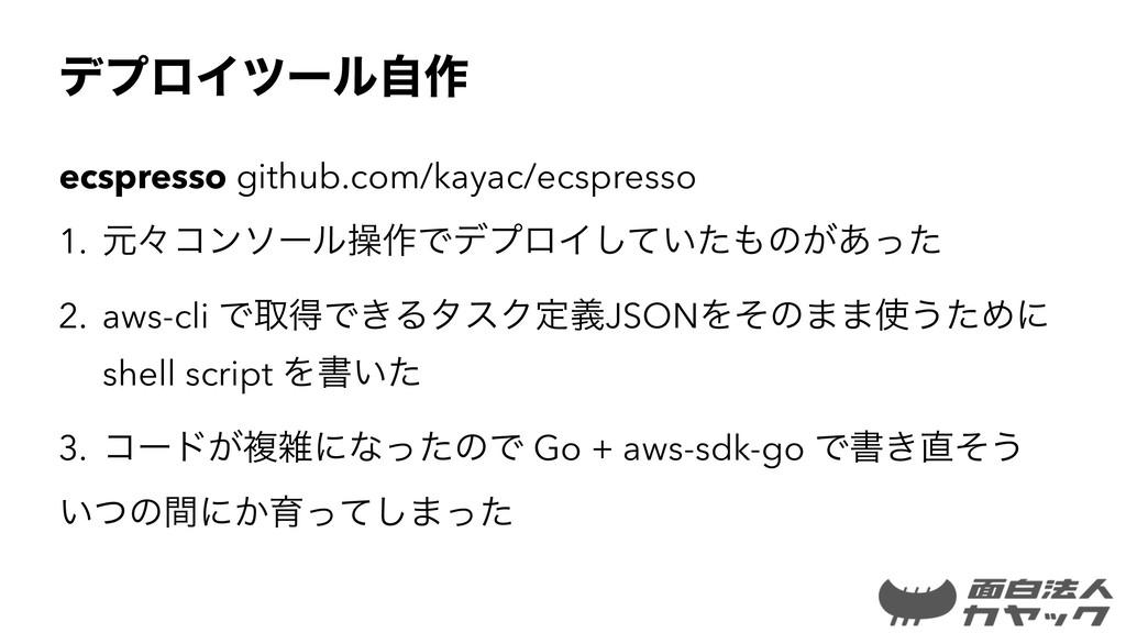 σϓϩΠπʔϧࣗ࡞ ecspresso github.com/kayac/ecspresso ...