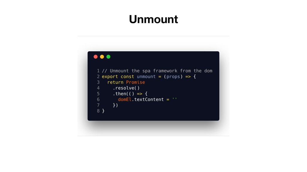 Unmount