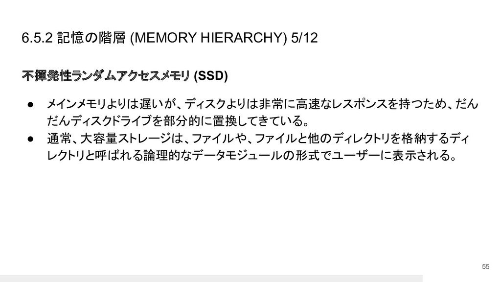 6.5.2 記憶の階層 (MEMORY HIERARCHY) 5/12 不揮発性ランダムアクセ...