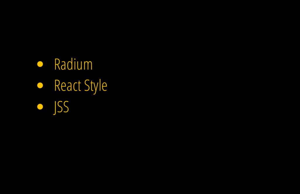 Radium React Style JSS