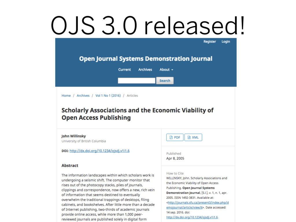 OJS 3.0 released!