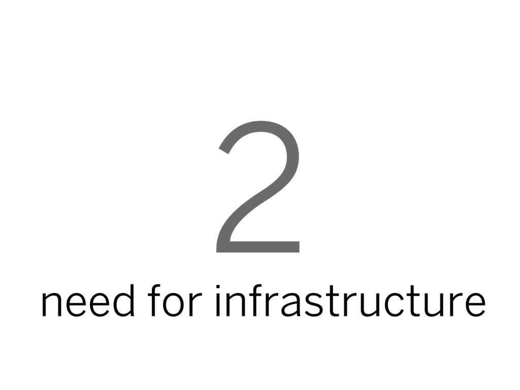 2 need for infrastructure