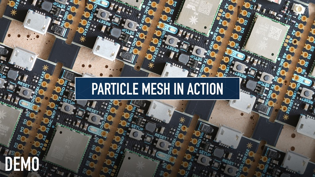 DEMO PARTICLE MESH IN ACTION