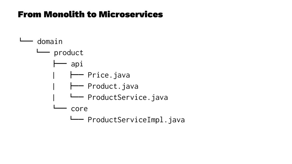 "From Monolith to Microservices !"""" domain !"""" p..."