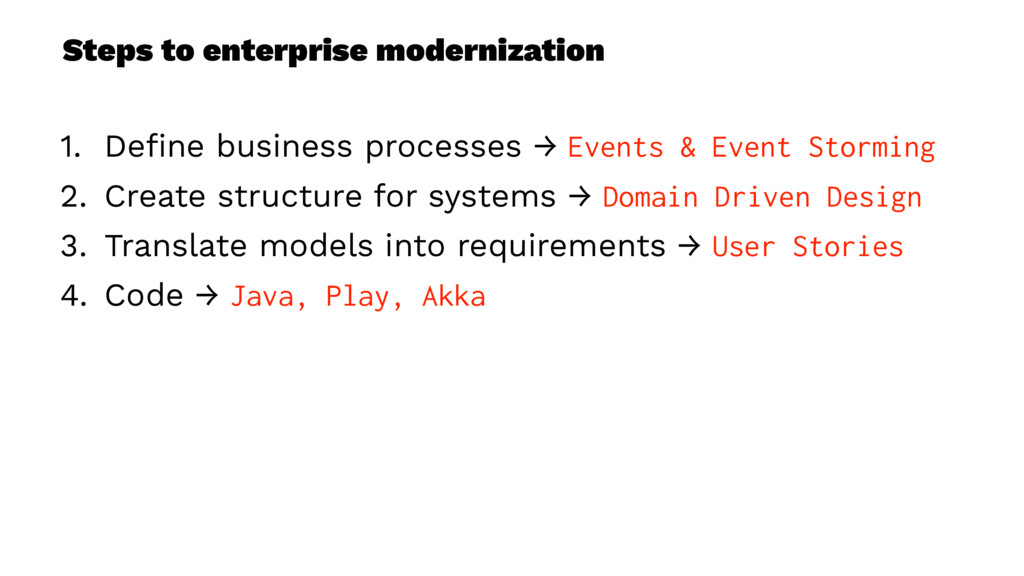 Steps to enterprise modernization 1. Define busi...