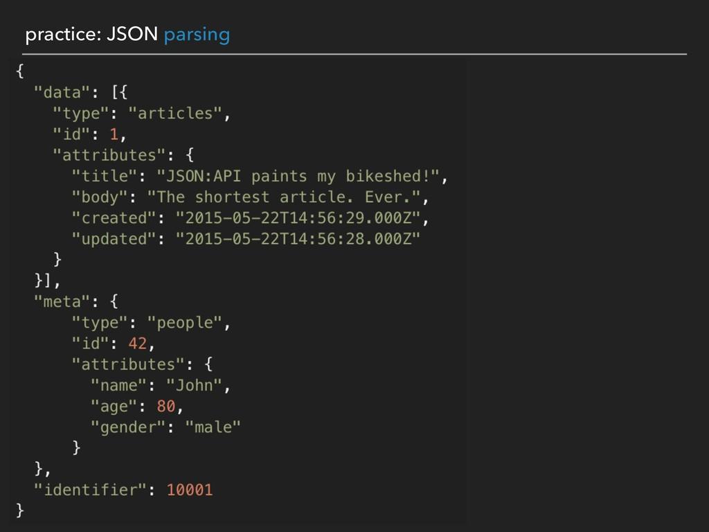 practice: JSON parsing
