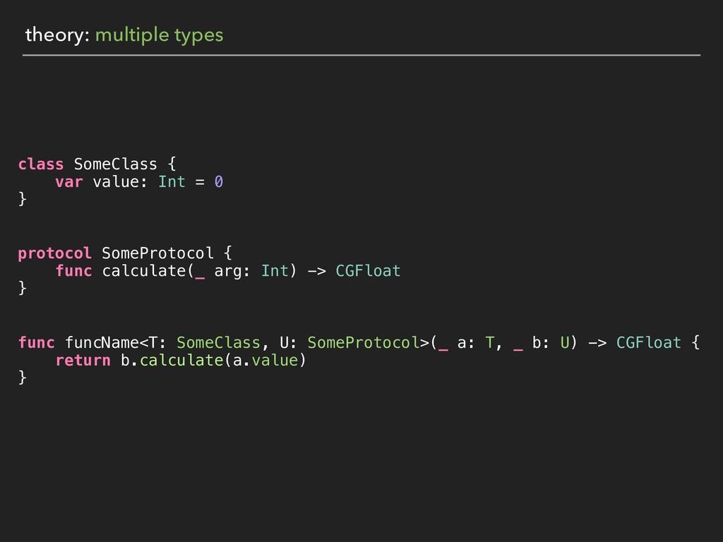 theory: multiple types class SomeClass { var va...