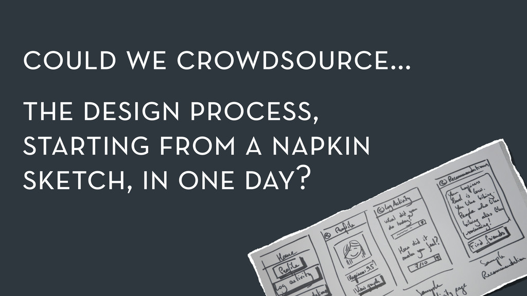 could we crowdsource… the design process, star...
