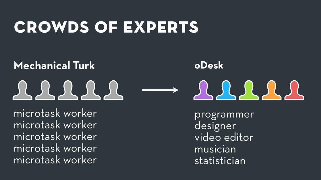 crowds of experts Mechanical Turk programmer de...