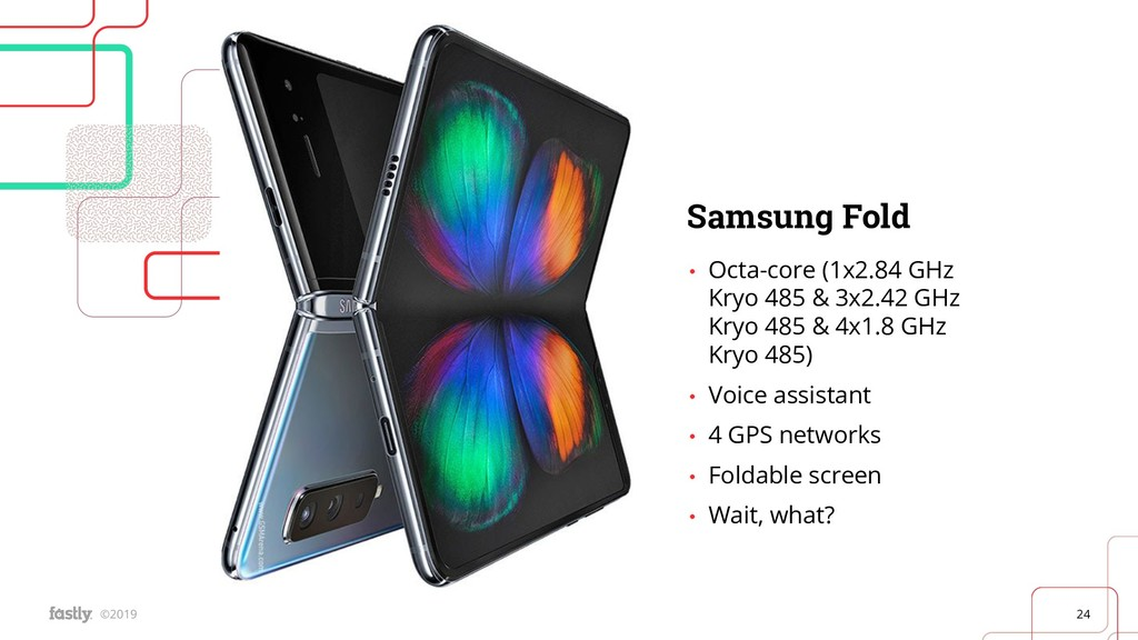 24 ©2019 Samsung Fold • Octa-core (1x2.84 GHz K...