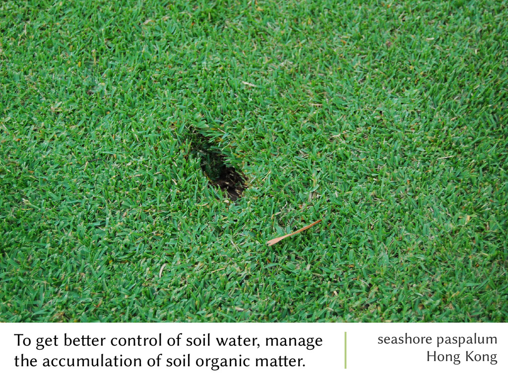 To get better control of soil water, manage the...