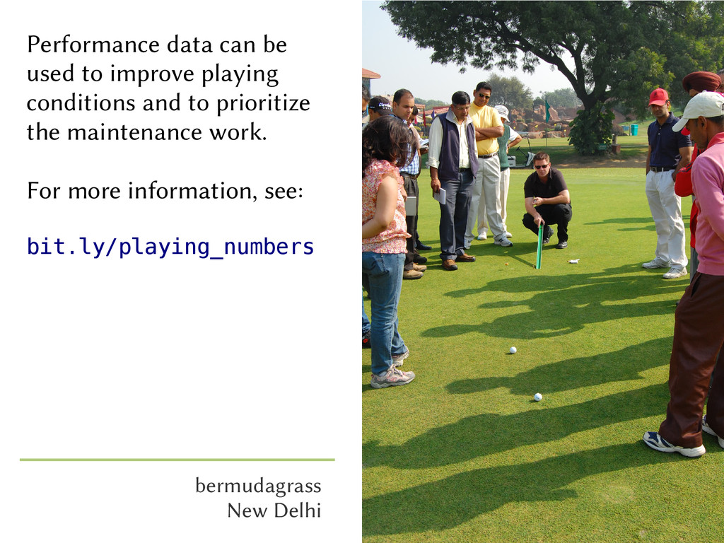 Performance data can be used to improve playing...