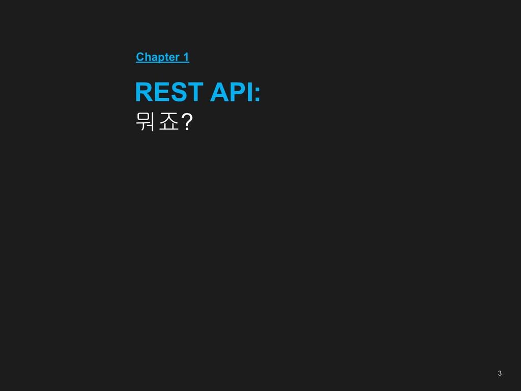 3 Chapter 1 REST API: 뭐죠?