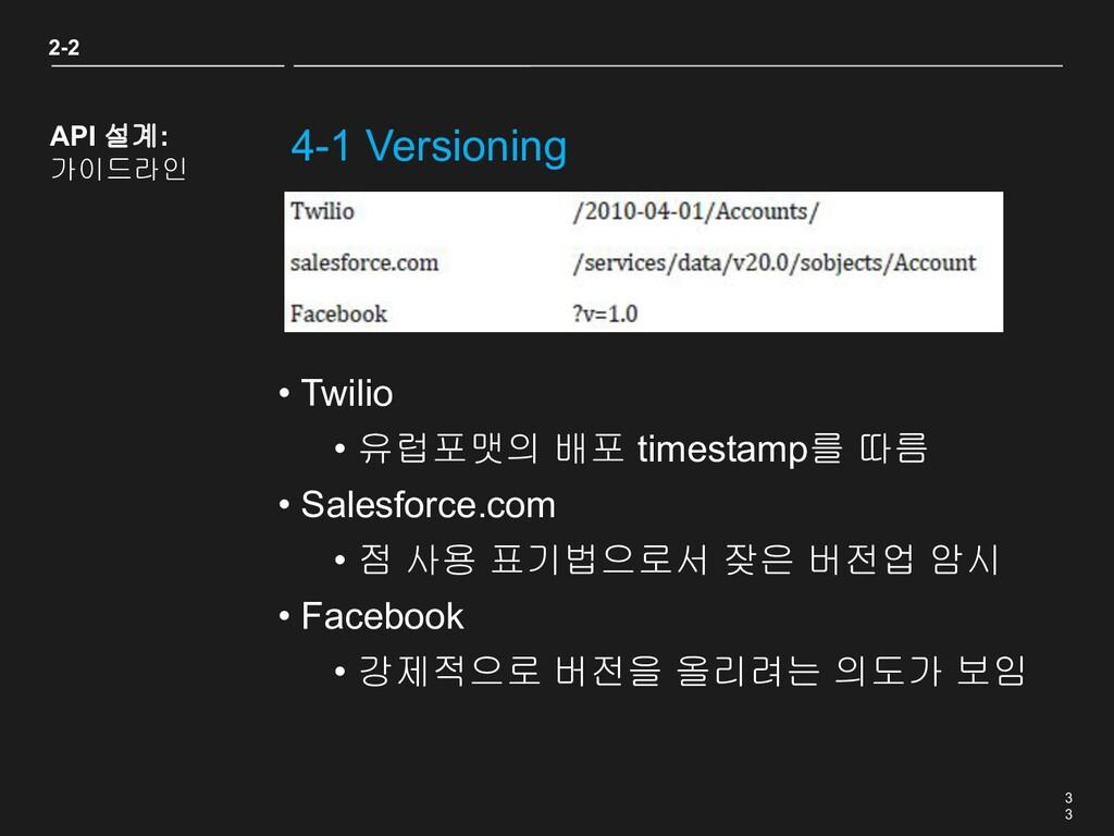 3 3 4-1 Versioning • Twilio • 유럽포맷의 배포 timestam...