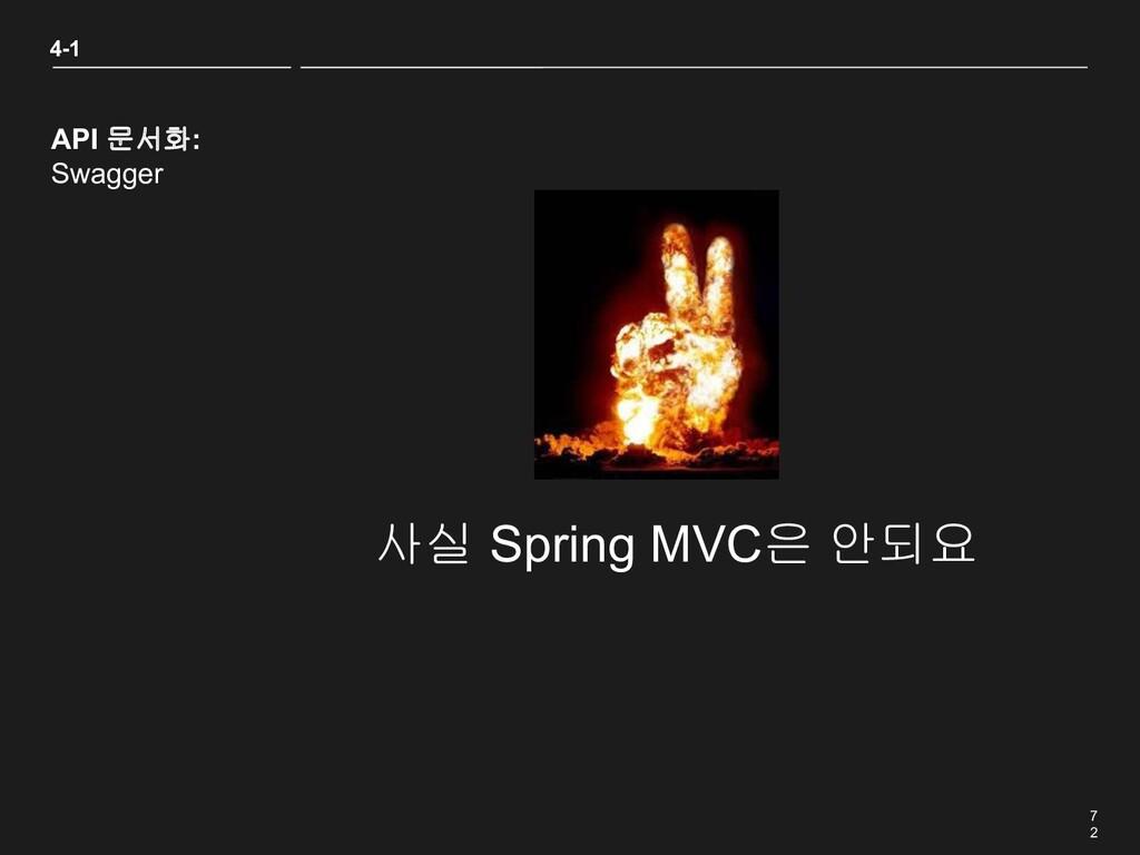 7 2 4-1 API 문서화: Swagger 사실 Spring MVC은 안되요