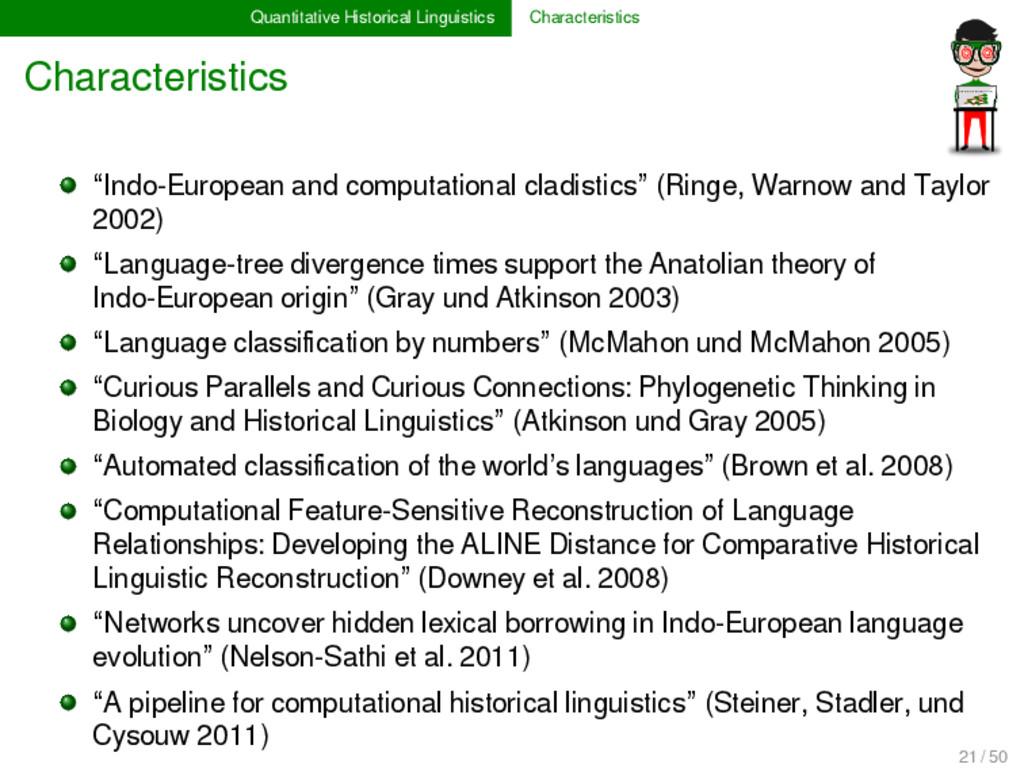 Quantitative Historical Linguistics Characteris...