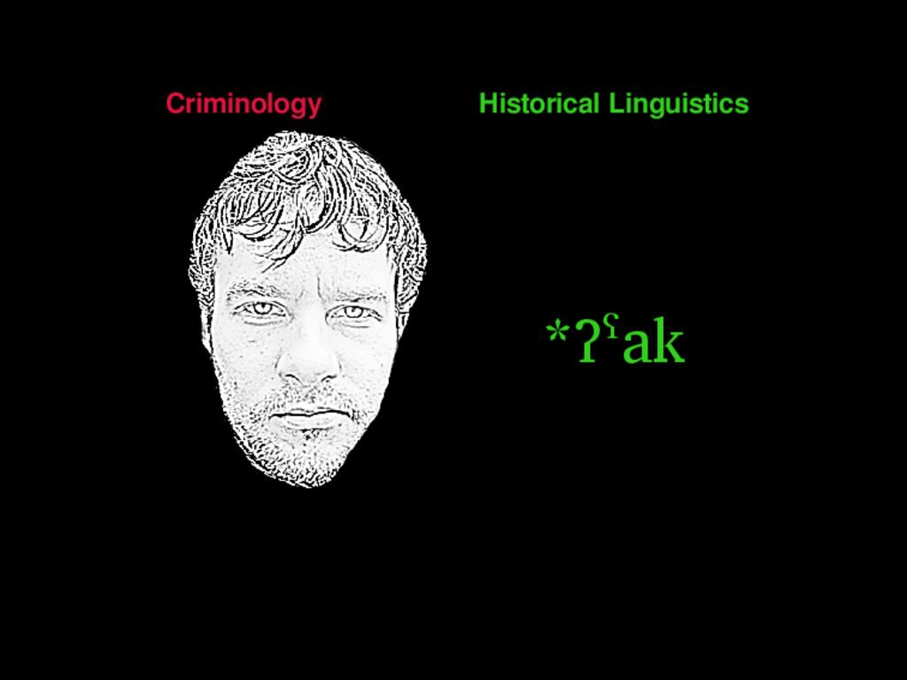 Criminology Historical Linguistics *ʔˁak 2 / 50